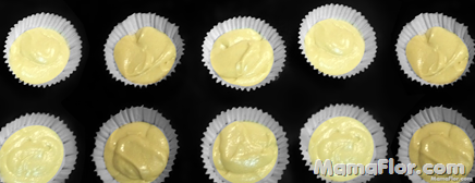 10 porciones de masa para cupcakes