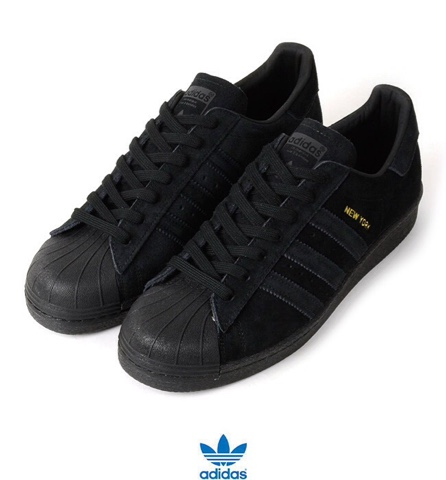 superstar adidas black suede