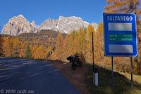 Von Cortina d'Ampezzo zum Passo di Falzarego (2105m), Ostrampe.
