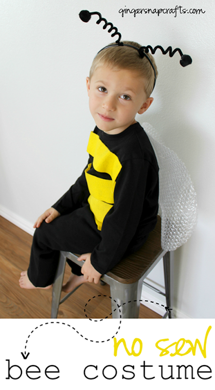 No Sew Bee Costume at GingerSnapCrafts.com #DIYCostumes #Halloween #bloghop[3]