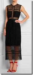 Self Portrait Macrame lace midi dress