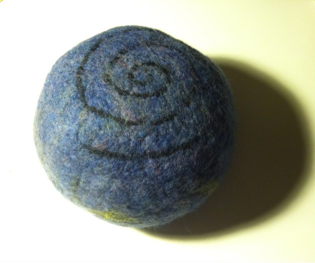wool bowl felted