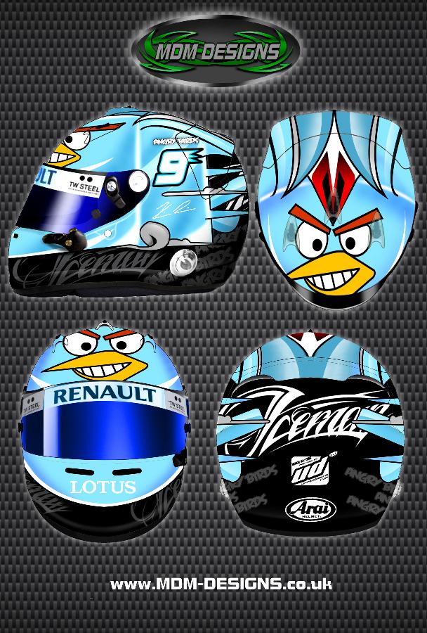 Кими Райкконен Angry Birds Ice Bird шлем by MDM Designs