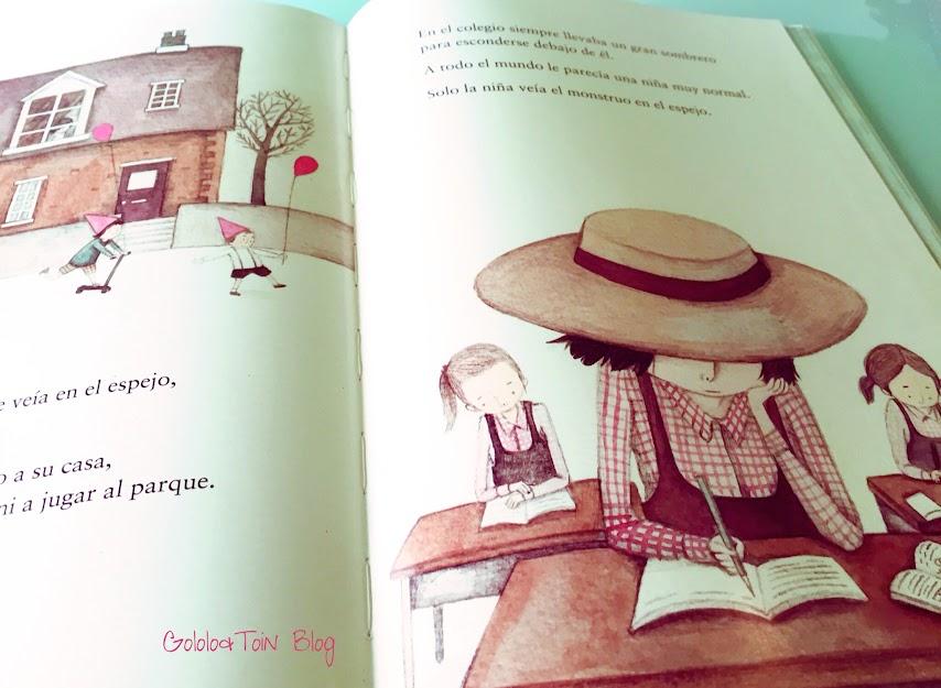 niña-monstruo-literatura-infantil-niños-autoestima-album-ilustrado