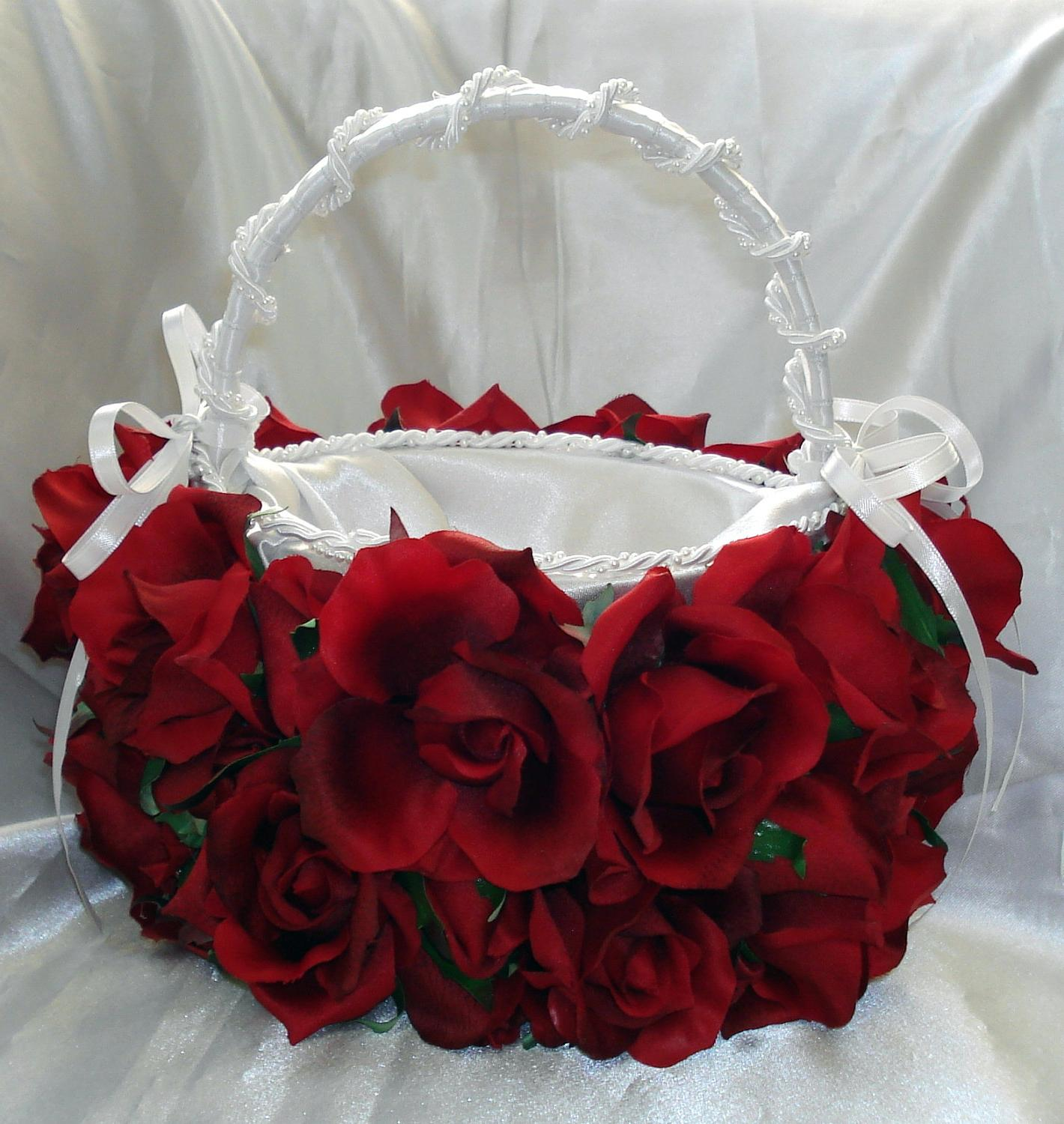 Red Rose Bridal Flower Girl