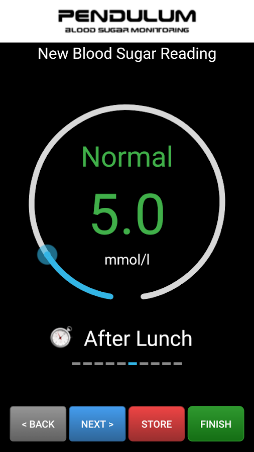 Pendulum Blood Sugar Monitor Screenshot 1