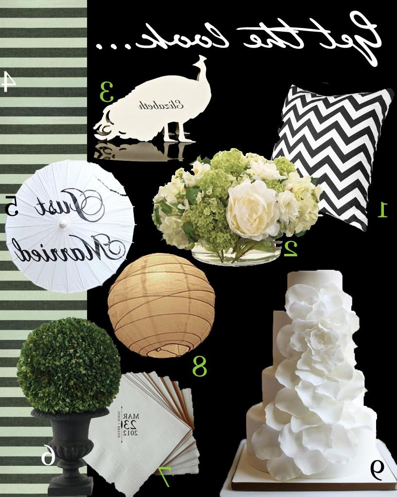 Black, white, & green hanging