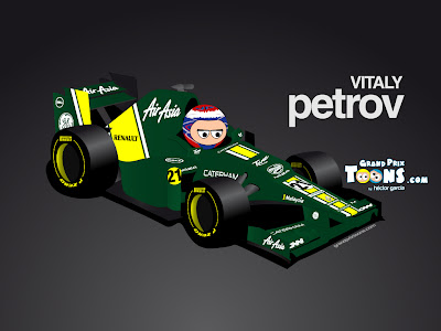 Виталий Петров Caterham CT01 Grand Prix Toons 2012