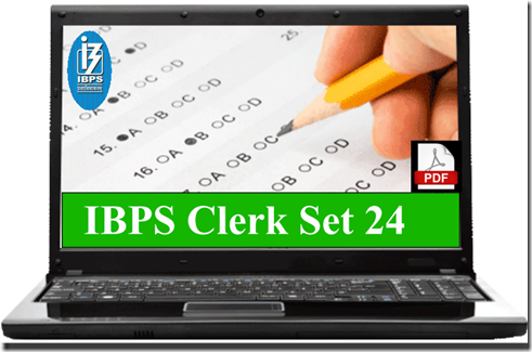 IBPS Clerk Preliminary Question paper PDF Set 24 download