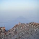La sombra del Teide sobre el mar