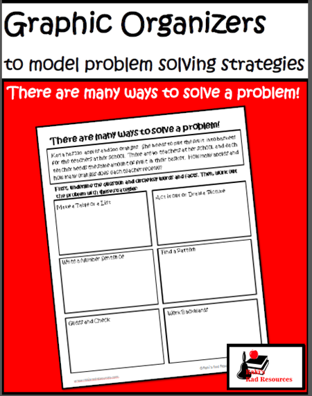 Four free graphic organizers to help you model problem solving strategies for your students. From Raki's Rad Resources.
