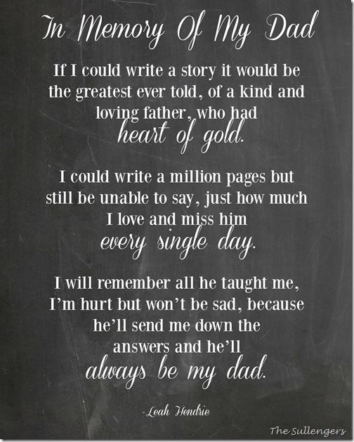 Leah Hendrie Poem In memory of my dad