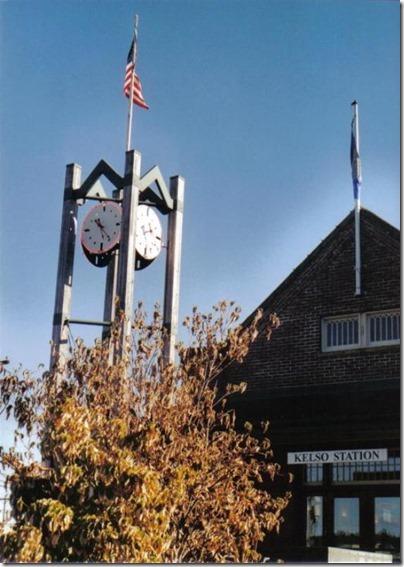 Kelso Depot Clock Tower on September 5, 2005