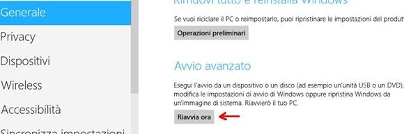 Windows 8 Avvio avanzato ripristino immagine di sistema