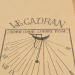 Café Le Cadran : Cadran solaire