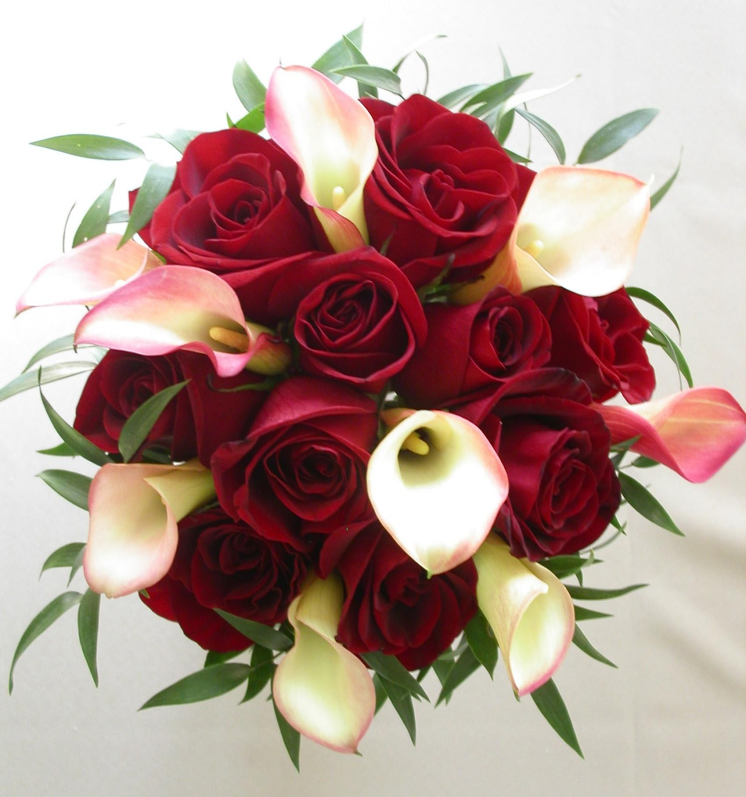 Lily and Red Rose Bouquet