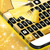 Download  Neon Gold GO Keyboard  Apk
