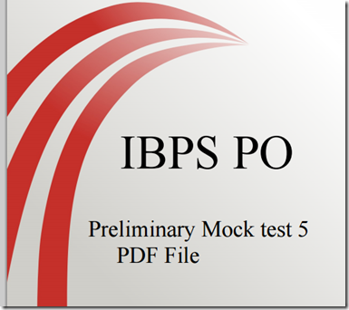 IBPS PO Preliminary practice question Set 5