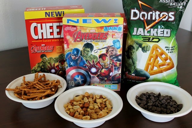Avengers Trail Mix ingredients