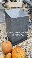 Tapered Granite Pedestal Polished Charcoal Grey