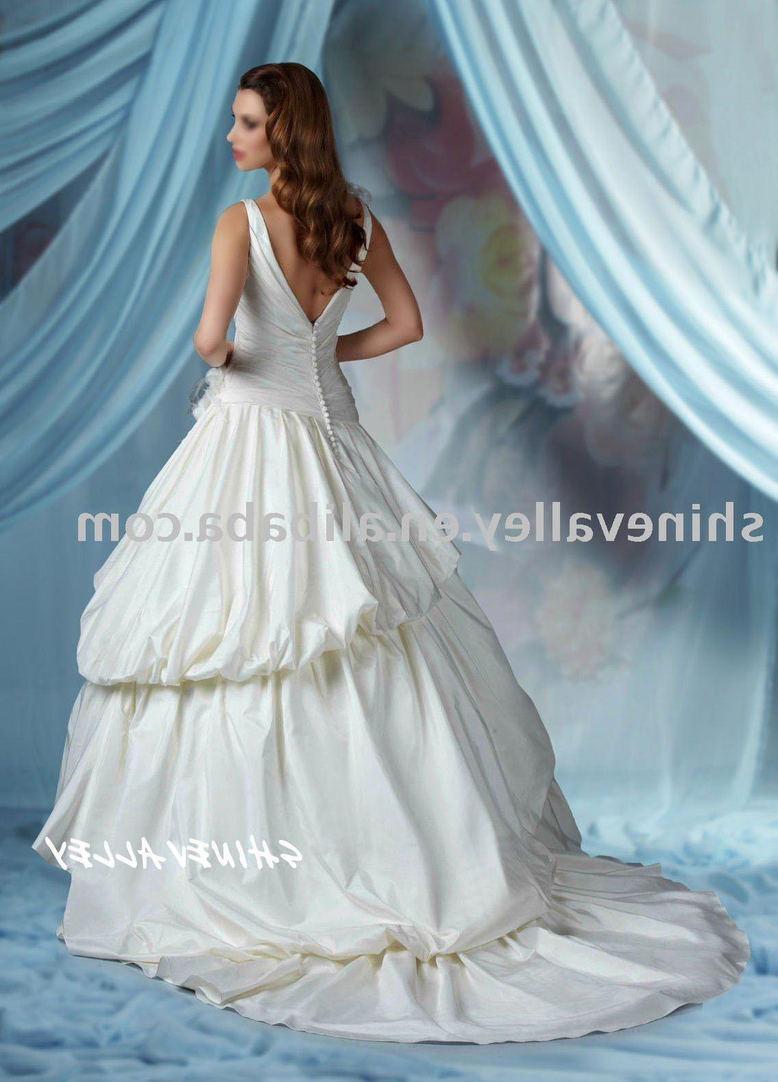 See larger image: IM107 2011 new taffeta gorgeous wedding dress,custom color