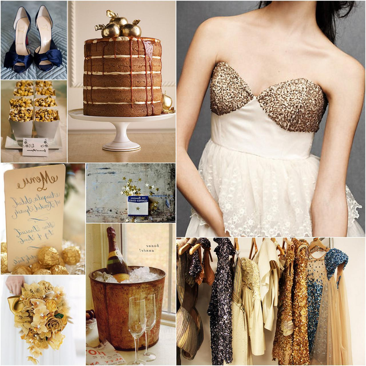 Champagne Colored Wedding Dress 4 Image