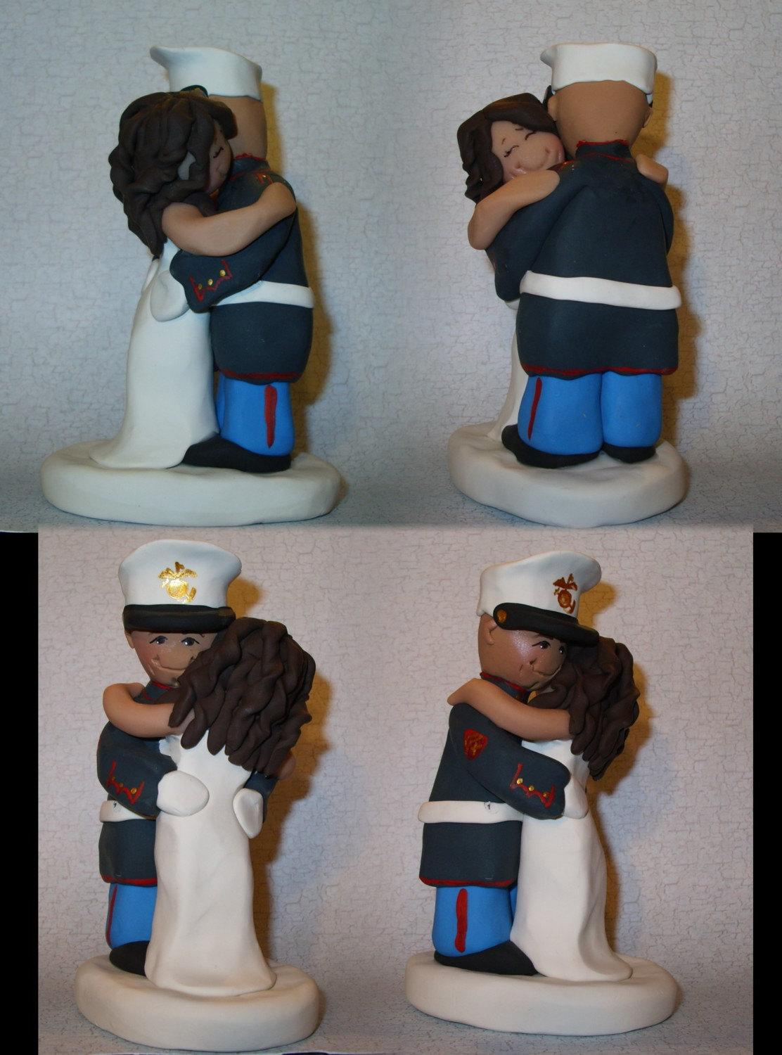 marine wedding cake toppers