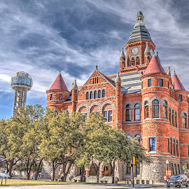Old Court House, Dealy Plaza, Dallas Texas by Jay Stout - Buildings & Architecture Public & Historical
