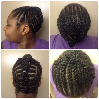 Crochet Hair Process : Desire My Natural!: Doing Her Hair Series! Crochet Senegalese MoHawk ...