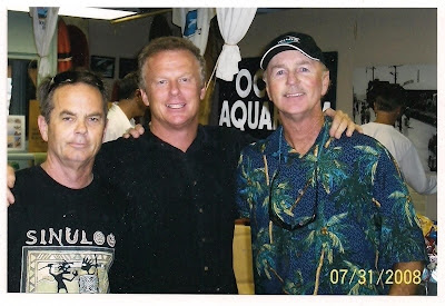 Bruce, Ty Page and Brian at the opening of the Skateboard Museum where it all started for us Pier Ave. Jr. High which is now a Museum and skatepark. Photo taken in 2008.