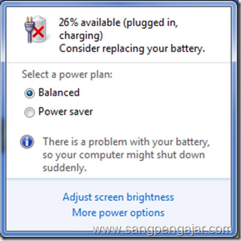 """Consider Replacing Your Battery"", Apa Maksudnya?"