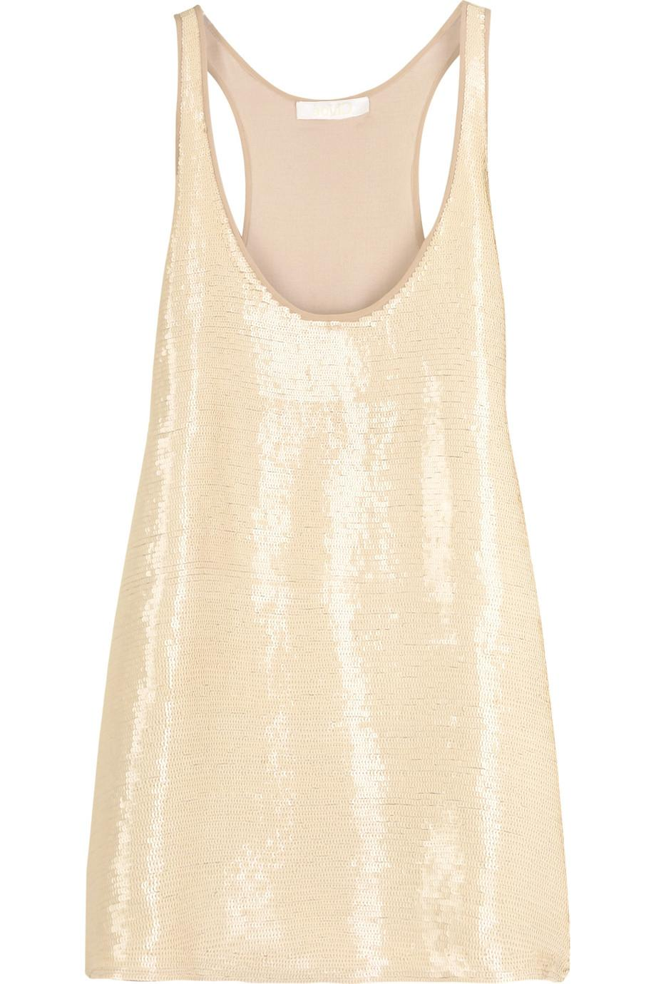 Chlo   Sequined racer back top