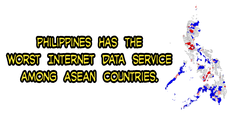 Image of how slow the internet speed you can get in the Philippines versus the other ASEAN countries