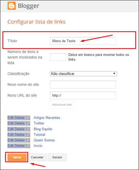 Como criar um menu no Blogger utilizando apenas uma lista de links - Visual Dicas