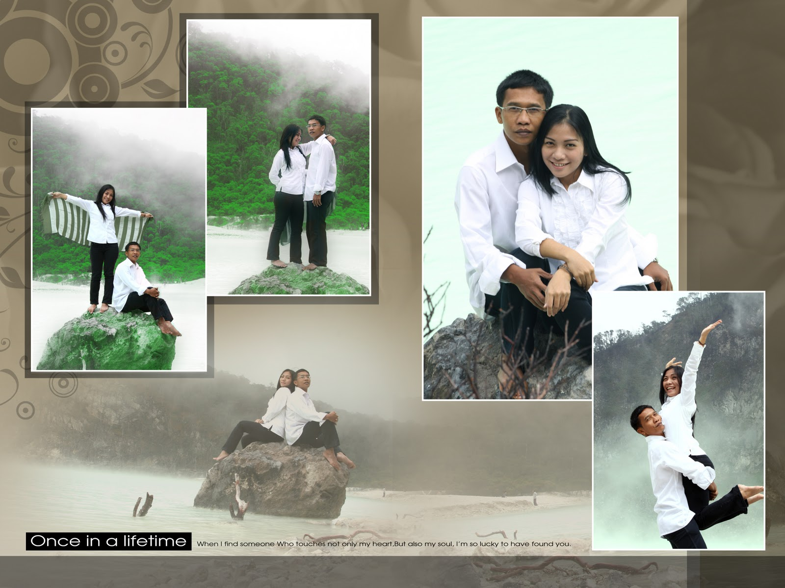contoh foto wedding outdoor