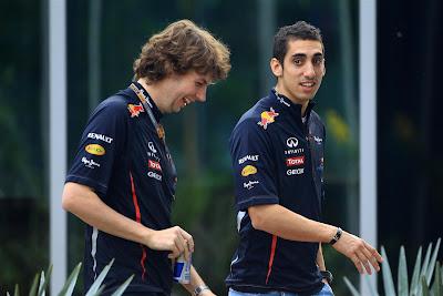 Гэвин Уорд и Себастьян Буэми на Гран-при Индии 2012