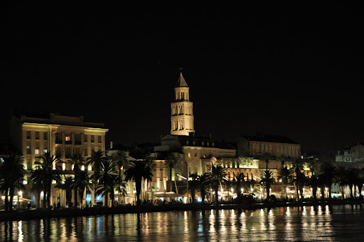 Diocletian's Palace at night