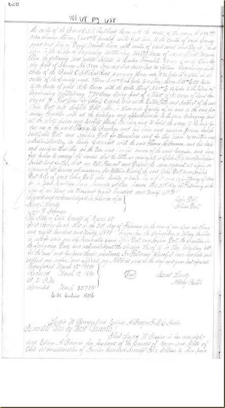 Lydia M. Bowyer sold to William Cox Irwin 22 February 1890_0001