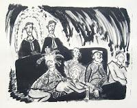 Dej BAO. 049 . Un Chemin dans la Pierre . 1977 .Lithographie . 36,5 x 55 cm