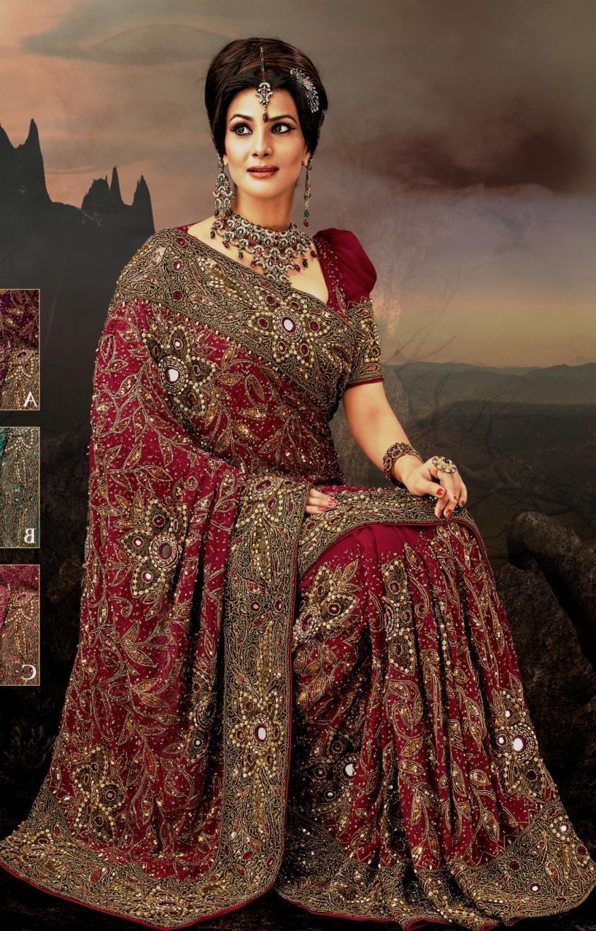 Magenta Indian wedding dresses