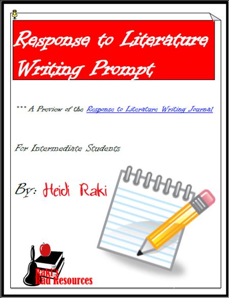 response to literature freebie