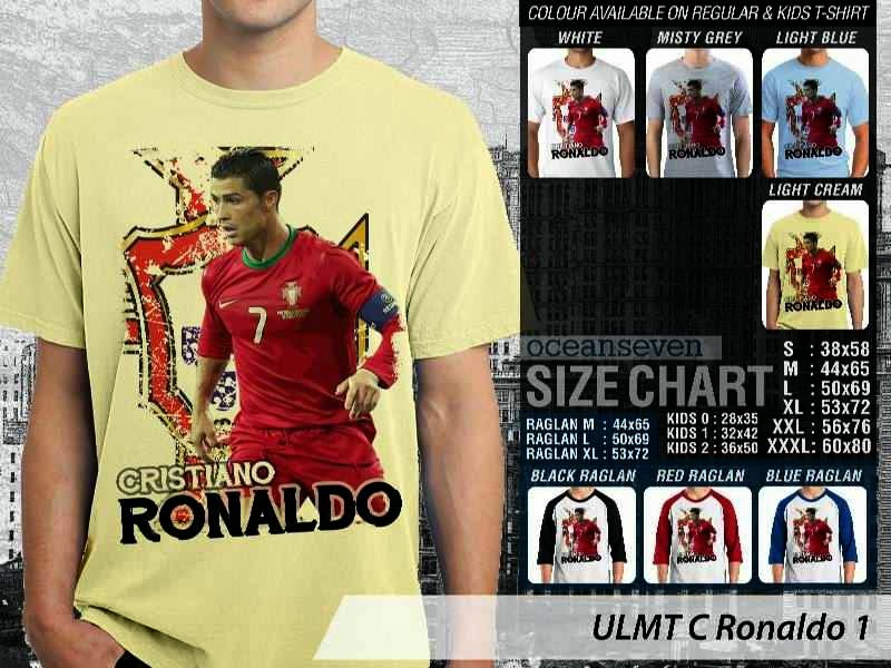 Kaos bola Cistiano Ronaldo 1 distro ocean seven