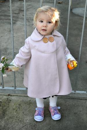 Pipi in her coat