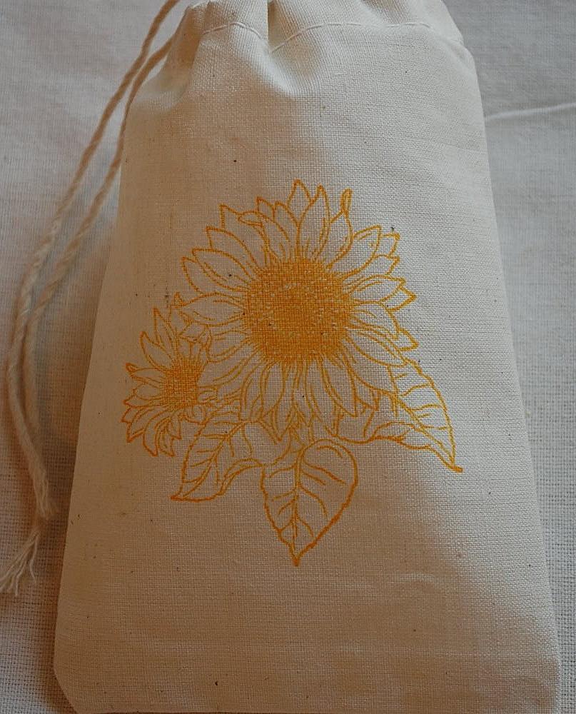 10 Muslin Favor Gift Bags