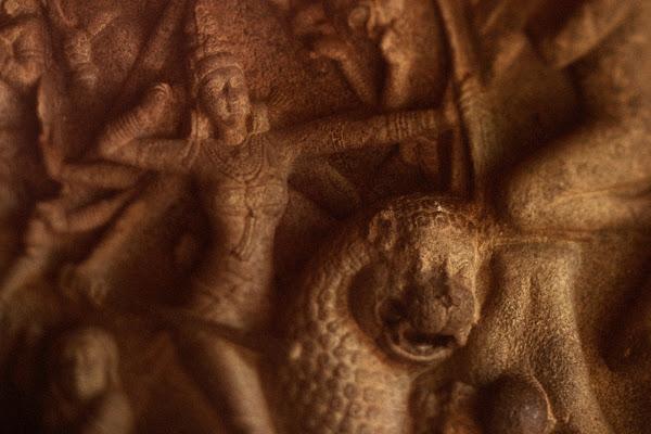 мамаллапурам камень храм руины барельеф