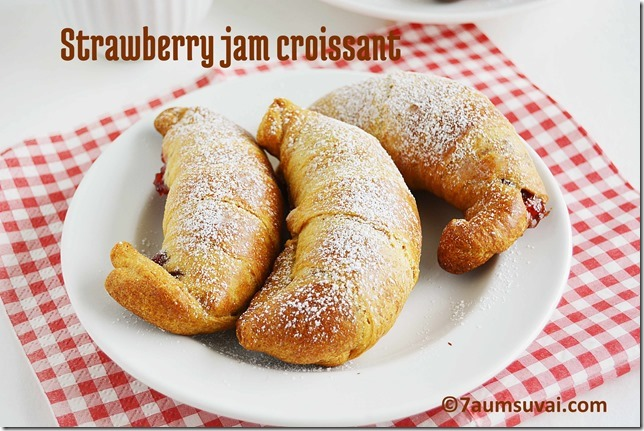 Strawberry jam croissant