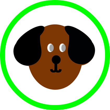 Dog Party Round - Green