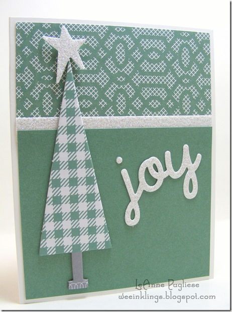 LeAnne Pugliese WeeInklings Plaid Tree Full of Joy CTMH Christmas