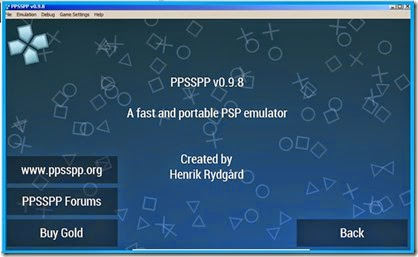 cara bermain psp di komputer windows