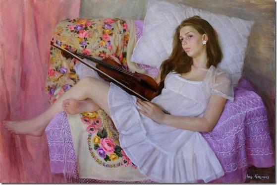 young violinist - Anna-Marinova - ENKAUSTIKOS